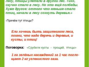 Рассказ из журнала «Юный натуралист» (Рассказывает ученик.) «…Один лесник пос