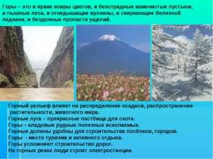 Горы – это и яркие ковры цветов, и безотрадные каменистые пустыни, и пышные л
