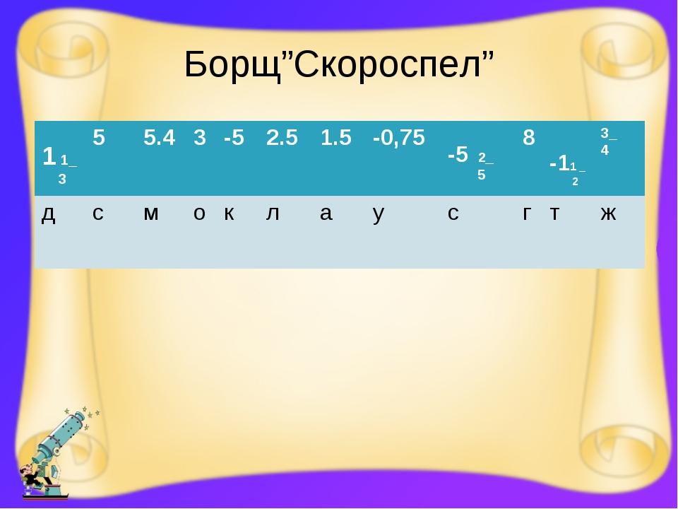 """Борщ""""Скороспел"""" 1 1_ 355.43-52.51.5-0,75 -5 2_ 58 -11 _ 2 3_ 4 дс..."""