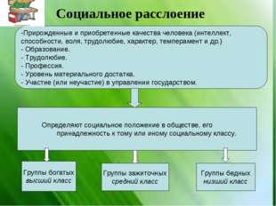 Прирожденные и приобретенные качества человека (интеллект, способности, воля,