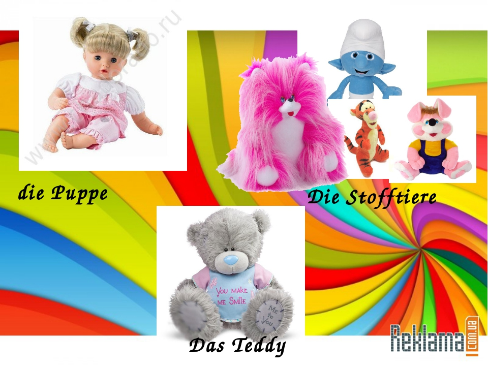 die Puppe Die Stofftiere Das Teddy
