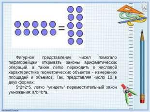 Фигурное представление чисел помогало пифагорейцам открывать законы арифметич