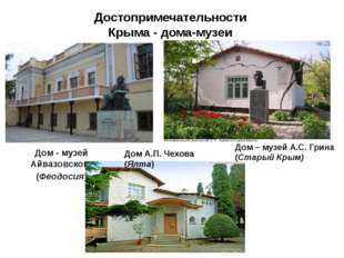 Достопримечательности Крыма - дома-музеи Дом - музей Айвазовского (Феодосия)