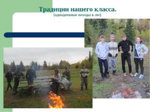 Традиции нашего класса. (однодневные походы в лес)