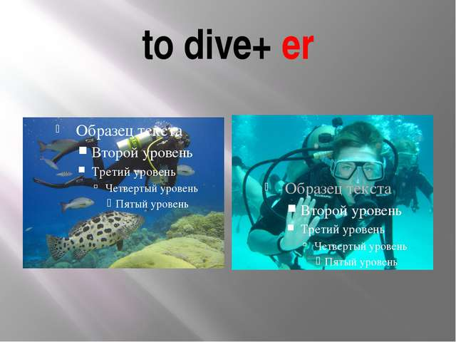 to dive+ er