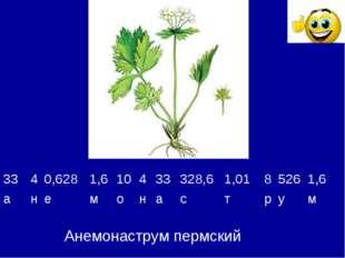 Анемонаструм пермский 3340,6281,610433328,61,0185261,6 анемон