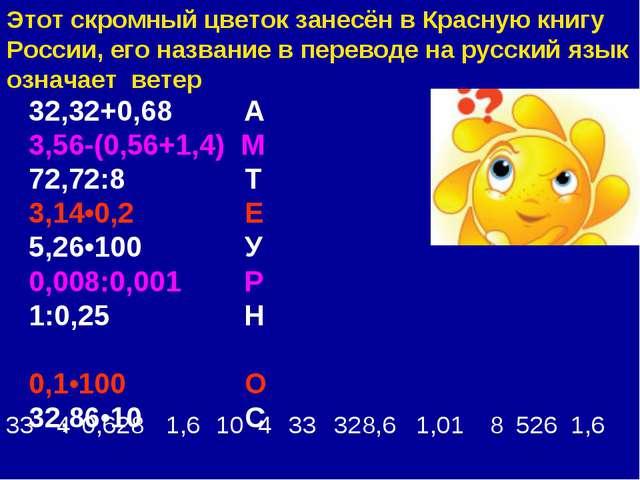Этот скромный цветок занесён в Красную книгу России, его название в переводе...