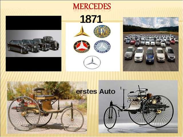 1871 erstes Auto