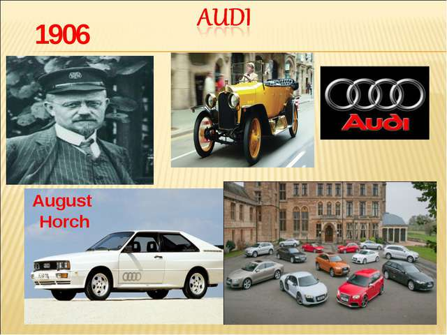 1906 August Horch