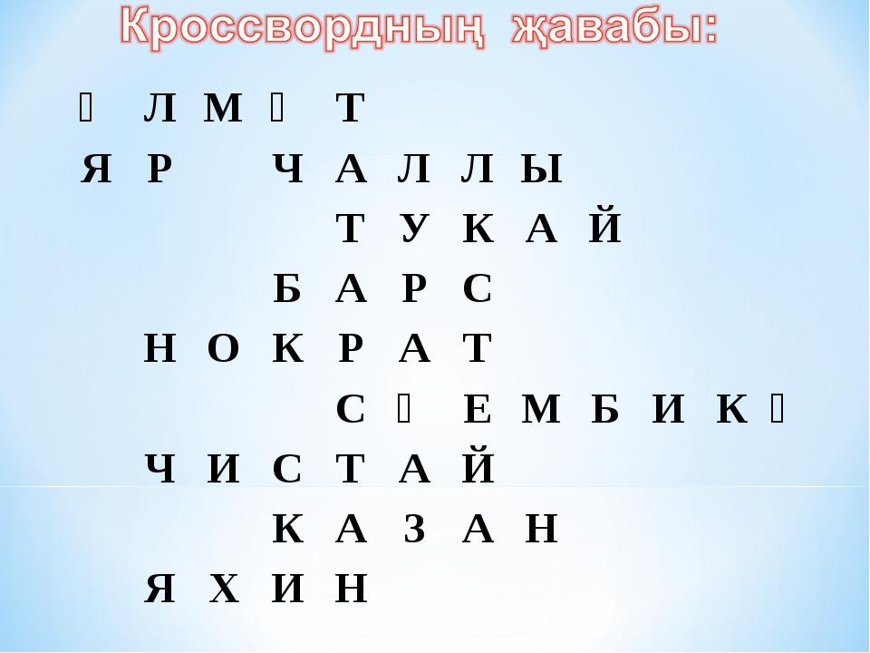 ӘЛМӘТ ЯРЧАЛЛЫ ТУКАЙ БАРС НОКР...