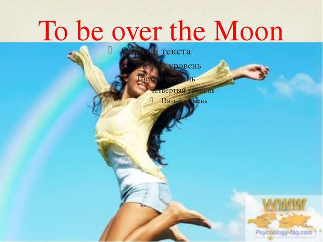To be over the Moon 