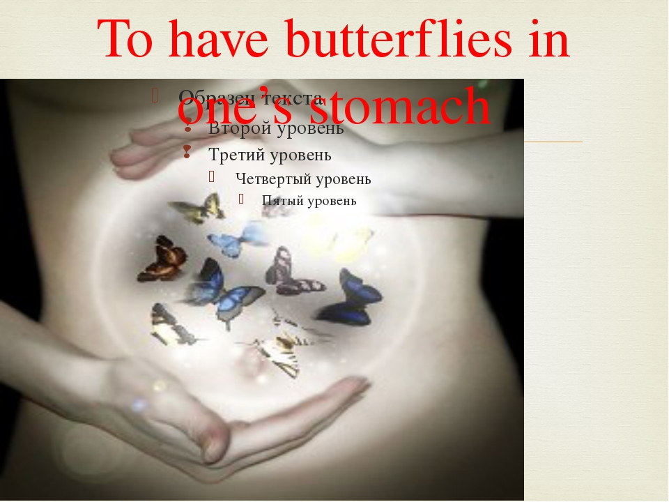To have butterflies in one's stomach 