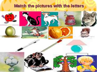Match the pictures with the letters