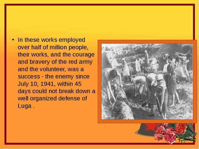 In these works employed over half of million people, their works, and the co...