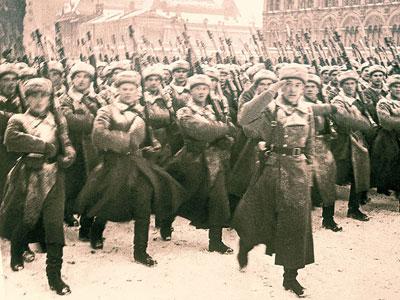 Пехота на параде. Москва 1941 ноябрь