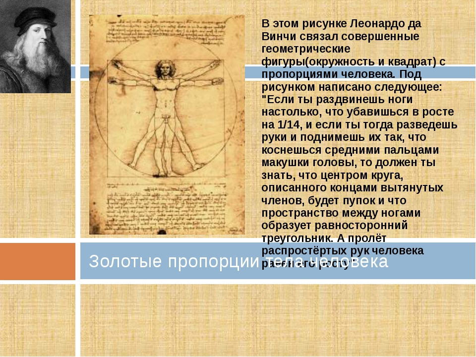 В этом рисунке Леонардо да Винчи связал совершенные геометрические фигуры(окр...