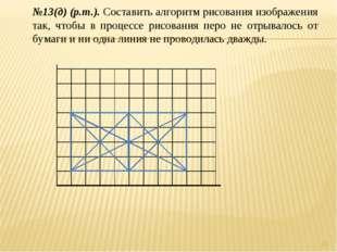 * №13(д) (р.т.). Составить алгоритм рисования изображения так, чтобы в процес