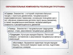ОБРАЗОВАТЕЛЬНЫЕ КОМПОНЕНТЫ РЕАЛИЗАЦИИ ПРОГРАММЫ «Страна». Знакомство с ис