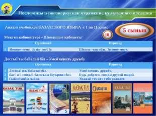 Анализ учебников КАЗАХСКОГО ЯЗЫКА с 1 по 11 класс Мектеп кабинеттері – Школьн