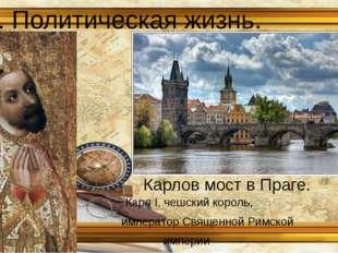 3. Политическая жизнь. Карл I, чешский король, император Священной Римской им