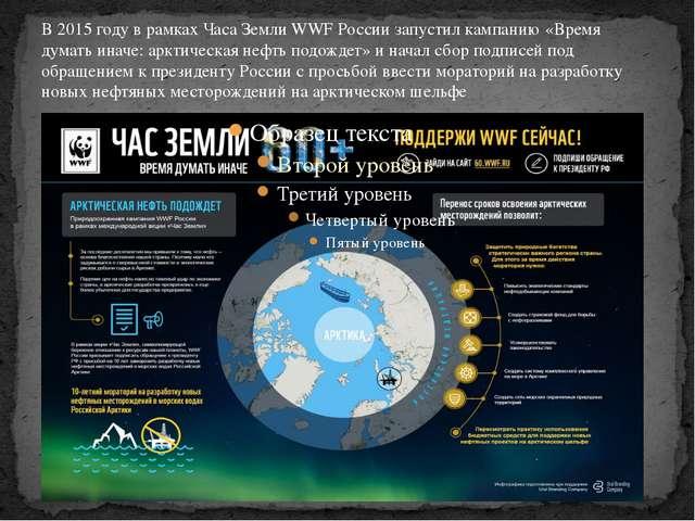 В 2015 году в рамках Часа Земли WWF России запустил кампанию «Время думать ин...