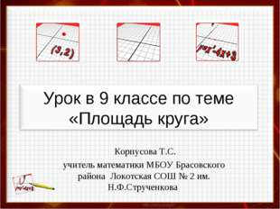 Корпусова Т.С. учитель математики МБОУ Брасовского района Локотская СОШ № 2