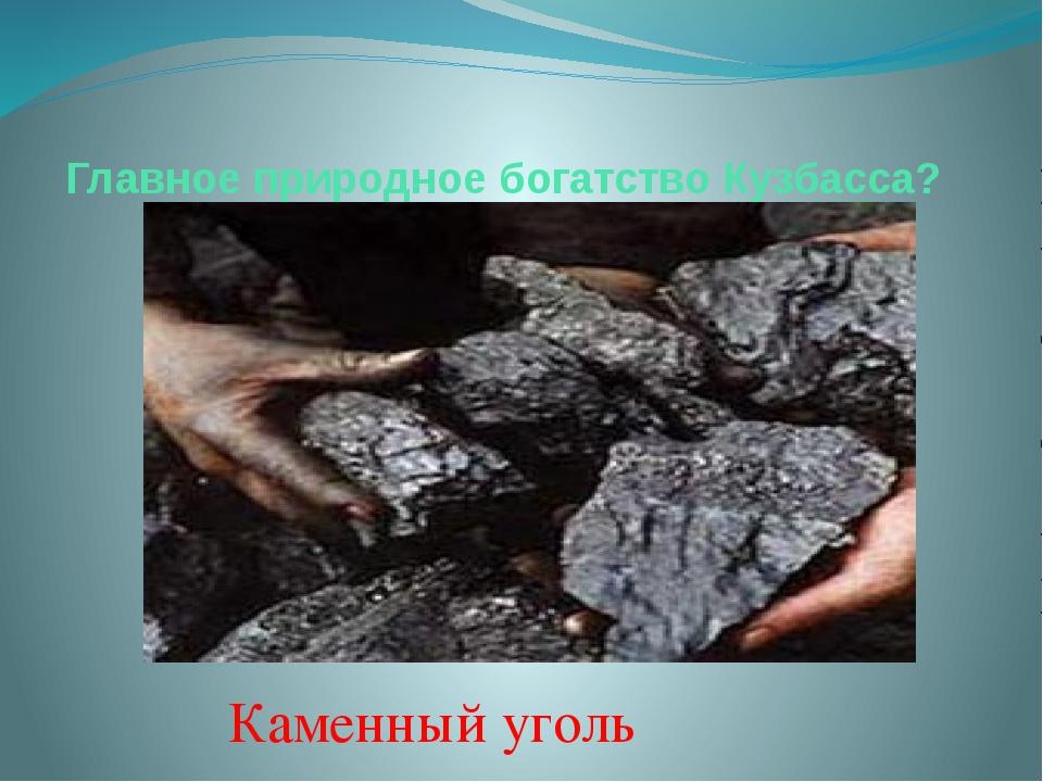Главное природное богатство Кузбасса? Каменный уголь