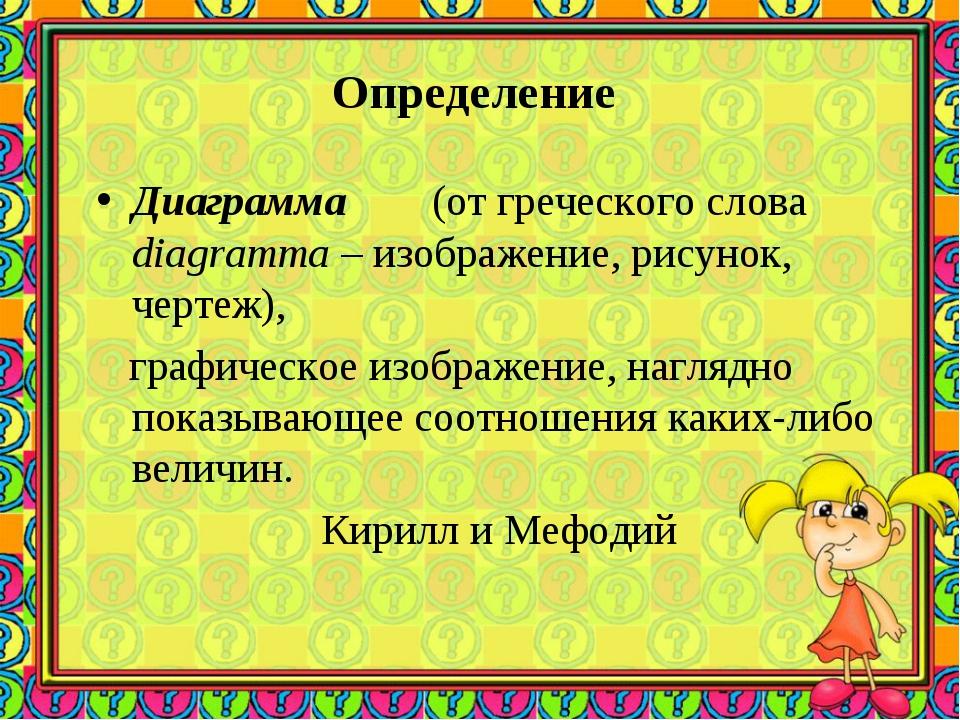 Определение Диаграмма (от греческого слова diagramma – изображение, рисунок,...