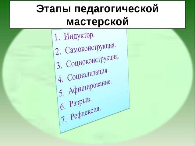Этапы педагогической мастерской