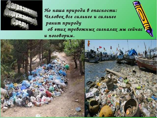 Но наша природа в опасности: Человек все сильнее и сильнее ранит природу об э...