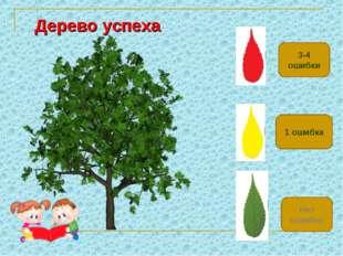 3-4 ошибки Нет ошибок 1 ошибка Дерево успеха