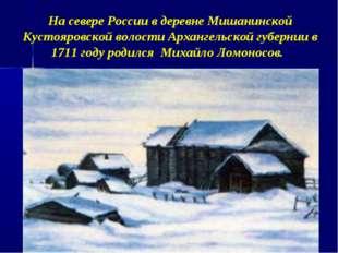 На севере России в деревне Мишанинской Кустояровской волости Архангельской г