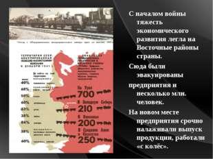 С началом войны тяжесть экономического развития легла на Восточные районы стр