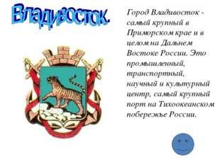 Город Владивосток - самый крупный в Приморском крае и в целом на Даль