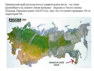 Приморский край располагается в удивительном месте – на стыке крупнейшего на