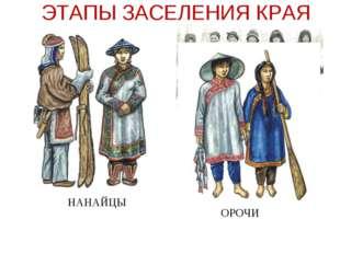 ЭТАПЫ ЗАСЕЛЕНИЯ КРАЯ НАНАЙЦЫ ЭВЕНЫ ОРОЧИ