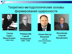Теоретико-методологические основы формирования одаренности Рубинштейн Сергей