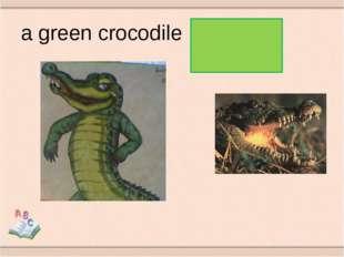 a green crocodile