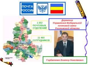 ПОЧТА РОССИИ Директор Управления Федеральной почтовой связи Ростовской област