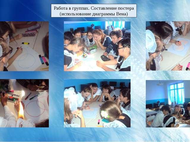 Работа в группах. Составление постера (использование диаграммы Вена)