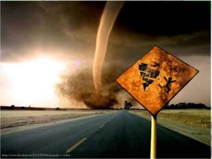 Чаще всего торнадо возникают на территории США. 29 февраля 2012 года. Наиболе
