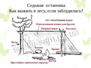Седьмая остановка Как выжить в лесу, если заблудились? Рис.1 Автор-Владимир Д