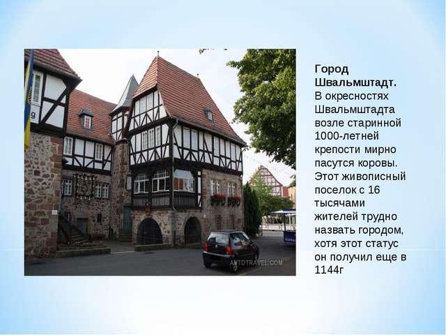 Город Швальмштадт. В окресностях Швальмштадта возле старинной 1000-летней кре...