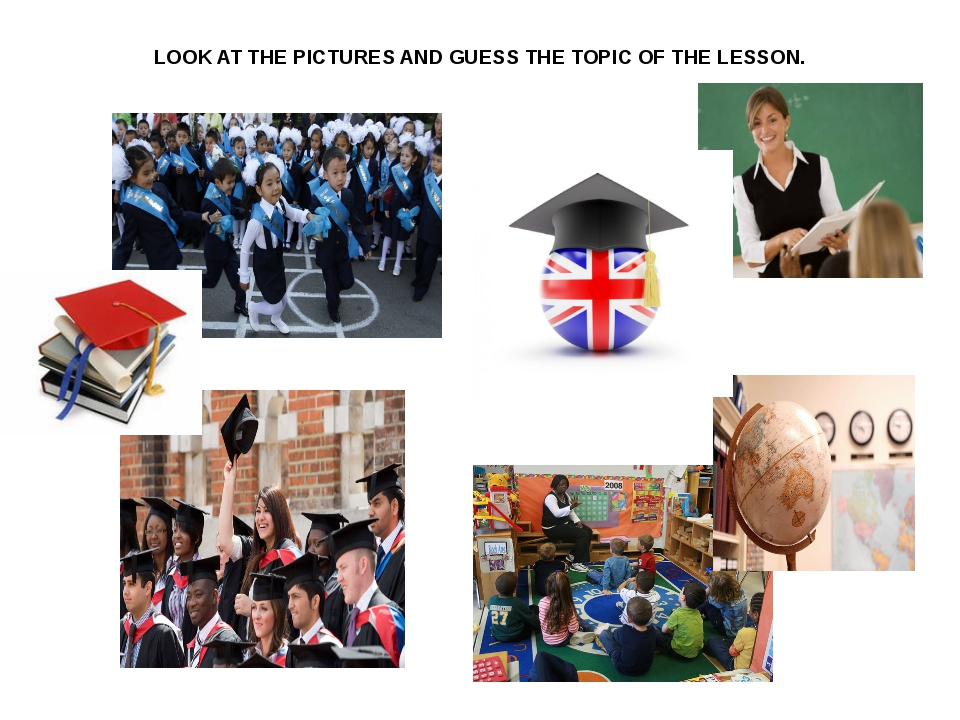 LOOK AT THE PICTURES AND GUESS THE TOPIC OF THE LESSON.