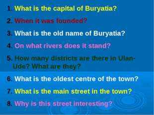 What is the capital of Buryatia? When it was founded? What is the old name o