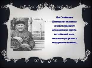 Лев Семёнович Понтрягин является живым примером вдохновенного труда, несгибае