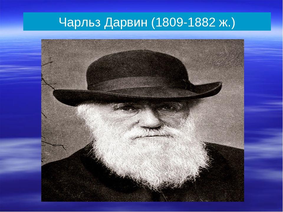 Чарльз Дарвин (1809-1882 ж.)