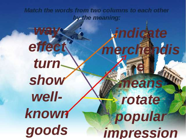way effect turn show well-known goods indicate merchendise means rotate popul...