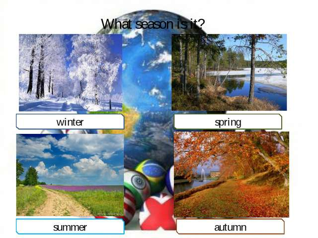 What season is it? winter spring summer autumn
