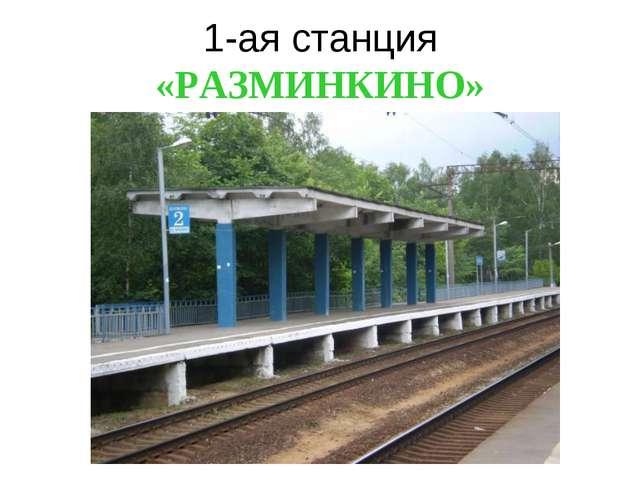 1-ая станция «РАЗМИНКИНО»